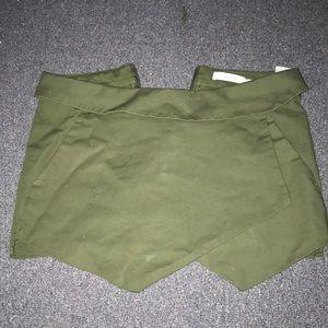 Army Green Envelope Skirt
